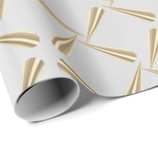 Metallic Blush Tiffany 3D Silver Gray Gold Foxier Wrapping Paper