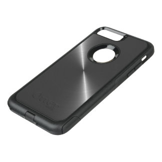 Metallic Bright Polished Steel OtterBox Commuter iPhone 7 Plus Case