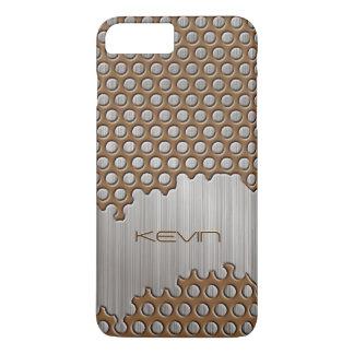 Metallic Brown & Silver Brushed Aluminum Monogram iPhone 8 Plus/7 Plus Case