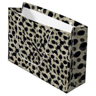 Metallic Camouflage Large Gift Bag