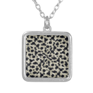Metallic Camouflage Silver Plated Necklace