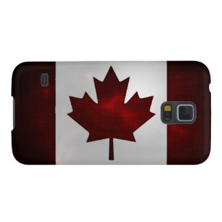 Metallic Canadian flag Case For Galaxy S5