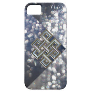 Metallic Celtic Knot Glitter Monogram Case. iPhone 5 Covers