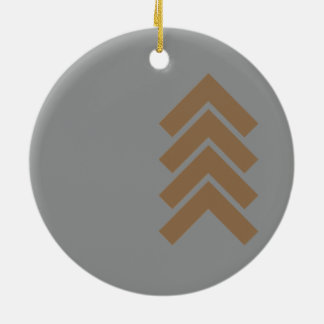 Metallic Chevron Ceramic Ornament