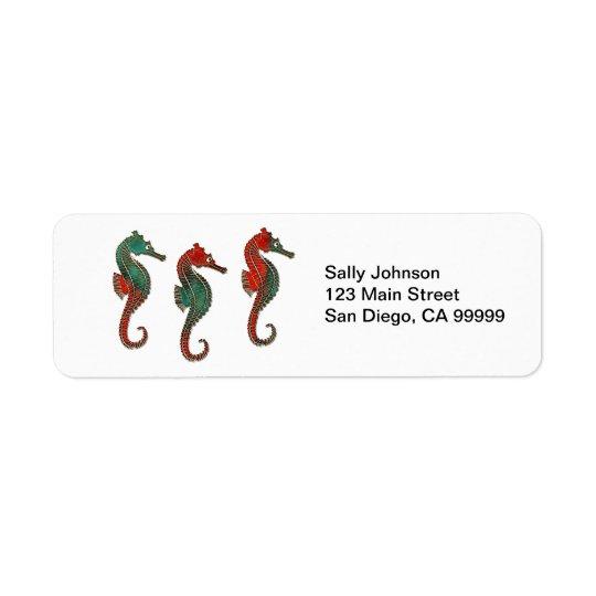 Metallic Christmas Seahorse Trio