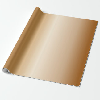 Metallic Copper Bells Wrapping Paper
