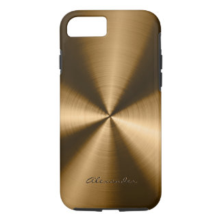 Metallic Copper Brown Stainless Steel Look iPhone 7 Case