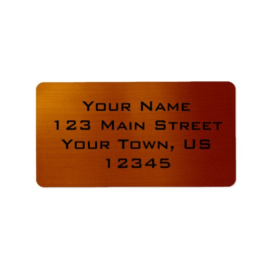 Metallic Copper Label