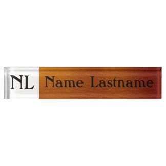 Metallic Copper Name Plate