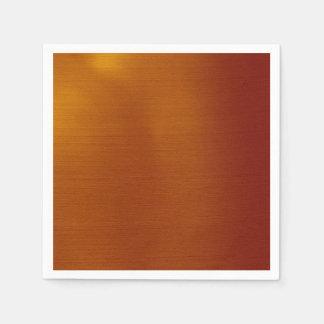 Metallic Copper Paper Napkins