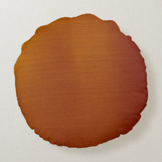 Metallic Copper Round Pillow