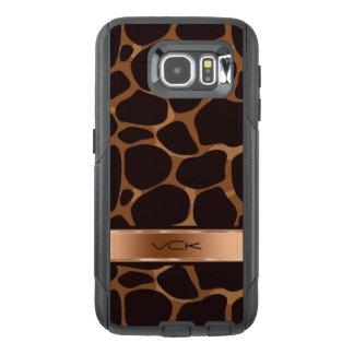 Metallic Copper Tones & Brown Leopard Print