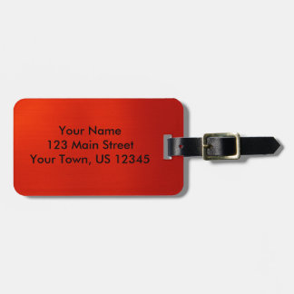 Metallic Crimson Luggage Tag