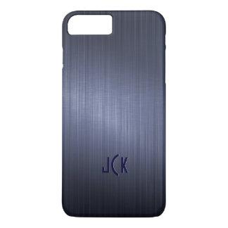 Metallic Dark Blue Brushed Aluminum Look iPhone 8 Plus/7 Plus Case