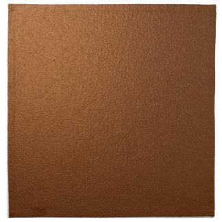 Metallic Dark Bronze-Colored Napkins