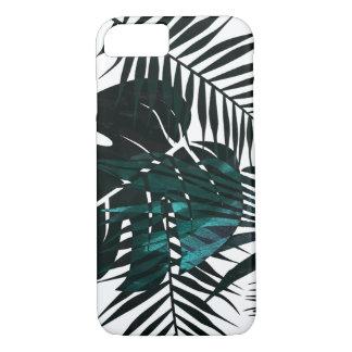 Metallic dark green tropical leaves Case-Mate iPhone case