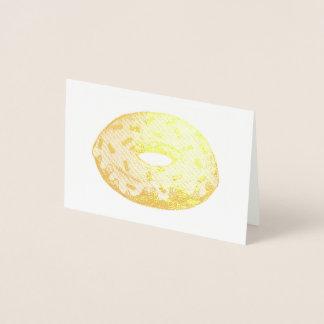 Metallic Donut w/ Sprinkles Doughnut Foodie Food Foil Card