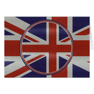 Metallic effect union jack flags card