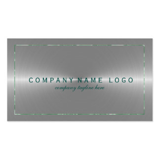 Metallic Faux Silver Gray Stainless Steel Look 3 Pack Of Standard Business Cards