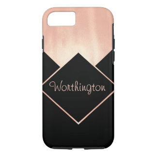 Metallic Feminine Modern Cool Rose Gold Obsession iPhone 8/7 Case