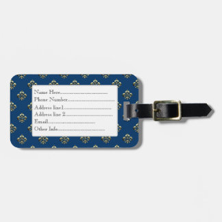 Metallic Fleur de lis (Gold) Luggage Tag