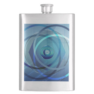 Metallic Flower - Zippo Lighter Hip Flask