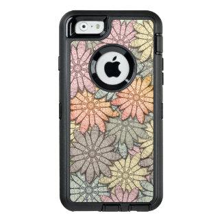 Metallic Flowers OtterBox Defender iPhone Case