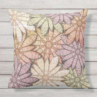 Metallic Flowers Outdoor Pillow