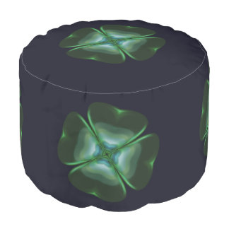 Metallic Four Leaf Clover Pouf