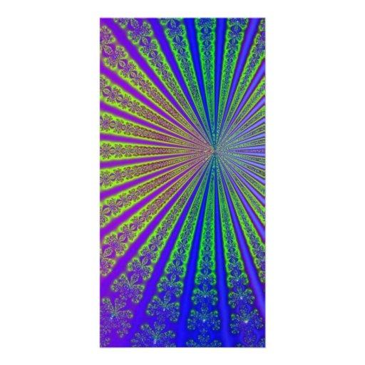 Metallic Fractal Art Photo Cards