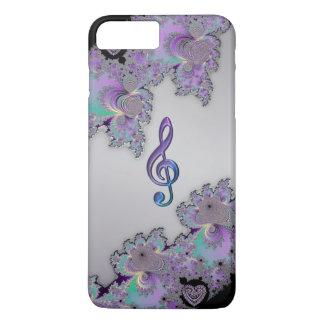Metallic Fractal Music Clef iPhone 7 Plus Case