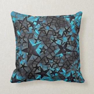 Metallic Galaxy Throw Pillow