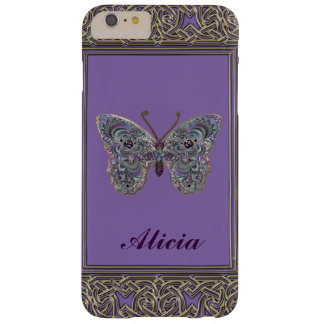 Metallic Glitter Butterfly iPhone 6 Plus Case