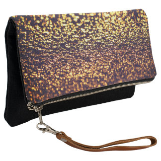 Metallic Glitter Sands Abstract Chic Clutch