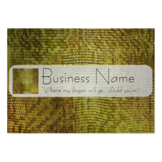 Metallic Gold Dragon Scales Large Business Card
