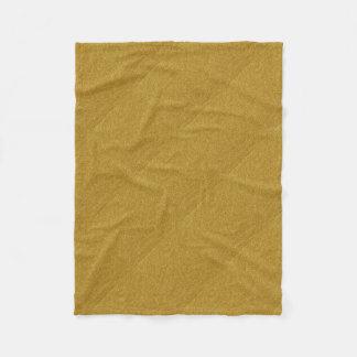 metallic gold glitter texture fleece blanket