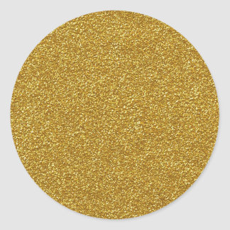 Metallic gold glitter texture round sticker