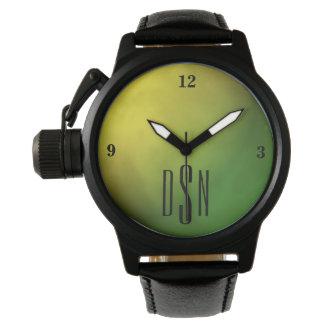 Metallic Gold Gradient Watch w/ 3-Initial Monogram