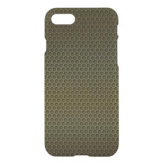 Metallic Gold Graphite Honeycomb Carbon Fiber iPhone 7 Case