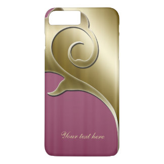 Metallic Gold Rose iPhone iPhone 7 Plus Case