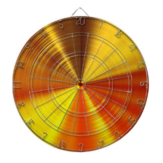 Metallic Gold Spiral Dartboard