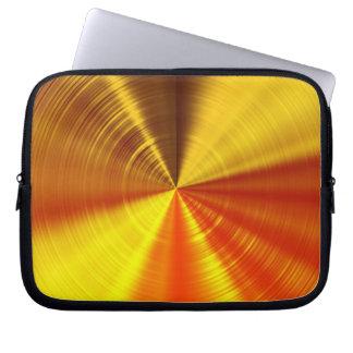 Metallic Gold Spiral Laptop Sleeve