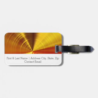 Metallic Gold Spiral Luggage Tag