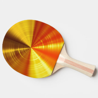 Metallic Gold Spiral Ping Pong Paddle