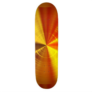 Metallic Gold Spiral Skate Boards