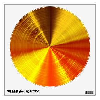 Metallic Gold Spiral Wall Sticker