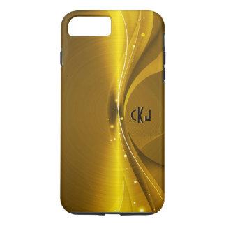 Metallic Gold Tones Stainless Steel Look iPhone 7 Plus Case