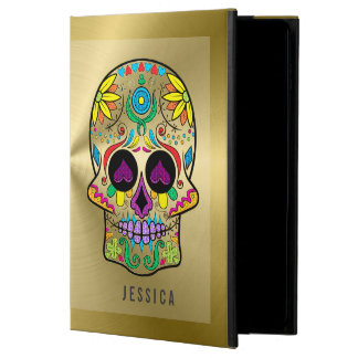 Metallic Gold With Colorful Sugar Skull Powis iPad Air 2 Case