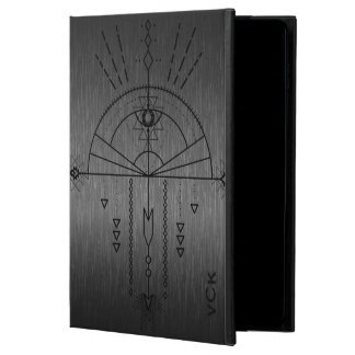 Metallic Gray & Black Tribal Geometric Totem Powis iPad Air 2 Case