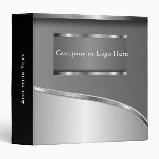 Metallic Gray Steel Look Vinyl Binder